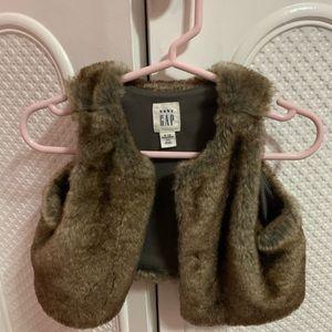 Baby gap fur vest